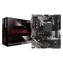 ASROCK B450M-HDV R4.0 Micro ATX AM4 AMD Motherboard