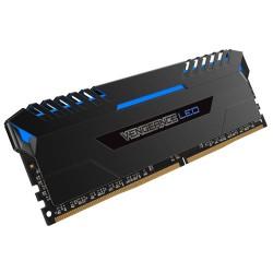CORSAIR Vengeance LED 16GB (2x8GB) DDR4 3200 MHz (PC4-25600) Desktop Memory RAM [CMU16GX4M2C3200C16B] - Blue LED