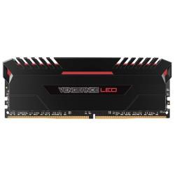 CORSAIR Vengeance LED 16GB (2x8GB) DDR4 2666 MHz (PC4-21300) Desktop Memory RAM [CMU16GX4M2A2666C16] - Red LED