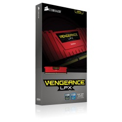 CORSAIR Vengeance LPX Red 8GB (2x4GB) DDR4 3200 MHz (PC4-25600) Desktop Memory RAM [CMK8GX4M2B3200C16R]