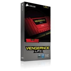 CORSAIR Vengeance LPX Red 1x8GB DDR4 2400 MHz (PC4-19200) Desktop Memory RAM [CMK8GX4M1A2400C14R]