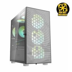 DARKFLASH DLX-21 Mesh ATX Mid Tower Gaming Casing Komputer - White