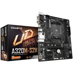 GIGABYTE GA-A320M-S2H 2.0 Micro ATX AMD AM4 Motherboard