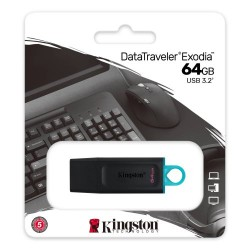 KINGSTON DataTraveler Exodia DTX 64GB USB 3.2 Flash Disk