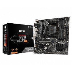 MSI B450M Pro-VDH MAX Micro ATX AM4 AMD Motherboard