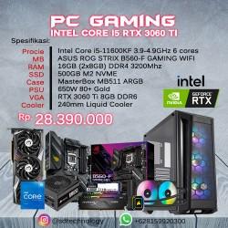 PC Rakitan Gaming INTEL Core i5-11600KF 16GB DDR4 500GB SSD VGA GeForce RTX 3060 Ti 8GB