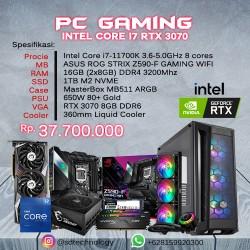 PC Rakitan Gaming INTEL Core i7-11700K 16GB DDR4 1TB SSD VGA GeForce RTX 3070 8GB