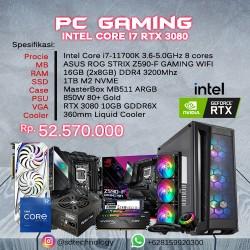 PC Rakitan Gaming INTEL Core i7-11700K 16GB DDR4 1TB SSD VGA GeForce RTX 3080 10GB