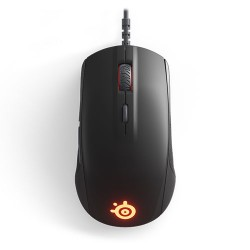 STEELSERIES Rival 110 Optical Gaming Mouse, 7200 CPI, RGB Illumination, 6 Buttons, TrueMove1 - Matte Black
