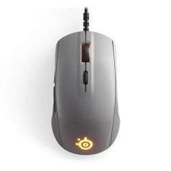 STEELSERIES Rival 110 Optical Gaming Mouse, 7200 CPI, RGB Illumination, 6 Buttons, TrueMove1 - Steel Grey
