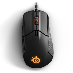 STEELSERIES Rival 310 Optical Gaming Mouse, 12000 CPI, RGB Illumination, 6 Buttons, TrueMove3 - Black