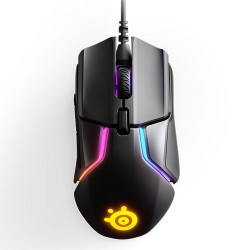 STEELSERIES Rival 600 Optical Gaming Mouse, 12000 CPI, RGB Illumination, 7 Buttons, TrueMove3+ Dual Sensor - Black