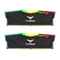 T-FORCE Delta RGB 16GB (2x8GB) DDR4 3200 MHz RAM PC - Black
