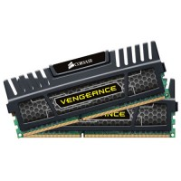 CORSAIR Vengeance Black 4GB (2x2GB) DDR3 1600 MHz (PC3-12800) Desktop Memory RAM [CMZ4GX3M2A1600C9]