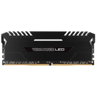 CORSAIR Vengeance LED 16GB (2x8GB) DDR4 2666 MHz (PC4-21300) Desktop Memory RAM [CMU16GX4M2A2666C16] - White LED