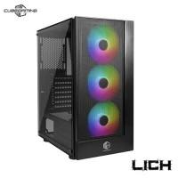 CUBE GAMING Lich ATX Gaming Casing Komputer - Black