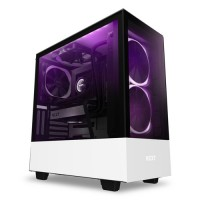 NZXT H510 Elite ATX Mid Tower Gaming Casing Komputer - Matte White