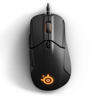 STEELSERIES Rival 310 Optical Gaming Mouse, 12000 CPI, RGB Illumination, 6 Buttons, TrueMove3 - Black + Free QCK