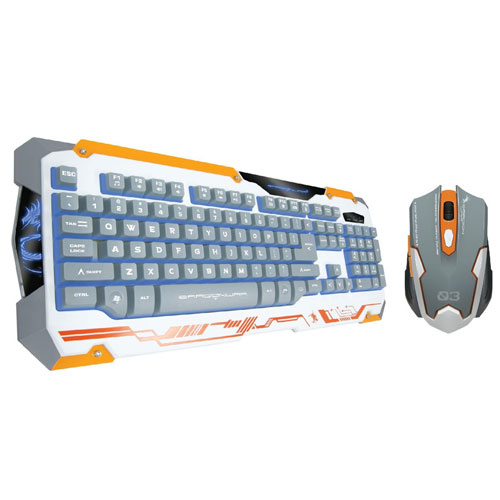 0127ef3be6f Jual DRAGON WAR Sencaic Gaming Keyboard & Mouse Combo GKM-001 - White - Beli  Online di BatamOnlineShop.Com